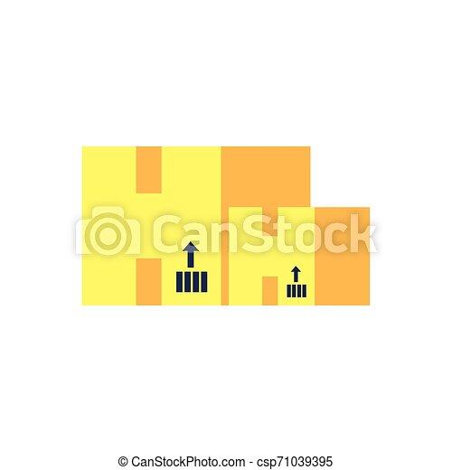 Un conjunto de cajas de cartón aislado icono - csp71039395