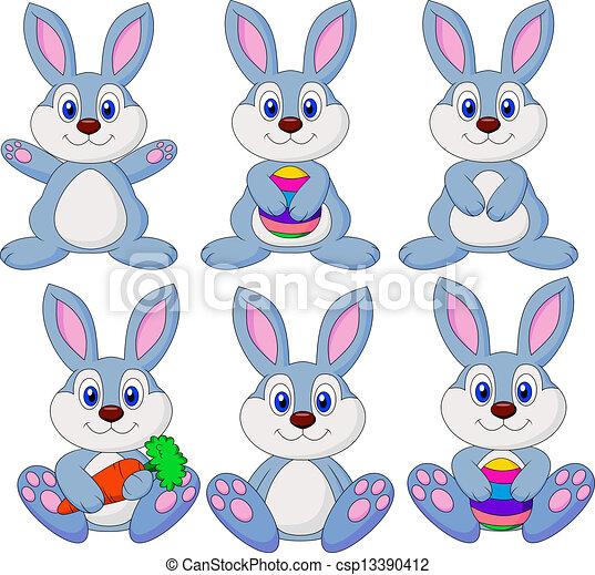 Cartón de conejo listo - csp13390412