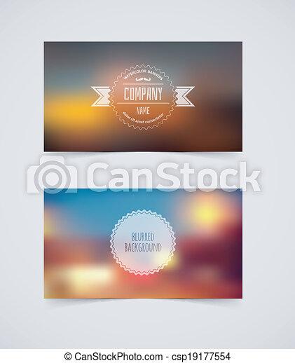 cartões, desenho, modelo, obscurecido - csp19177554