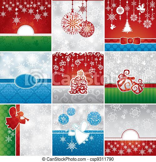 cartões, jogo, natal - csp9311790