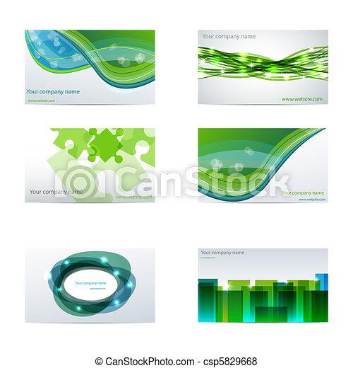 cartões, negócio verde - csp5829668