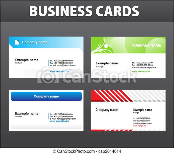 cartões, negócio - csp2614614