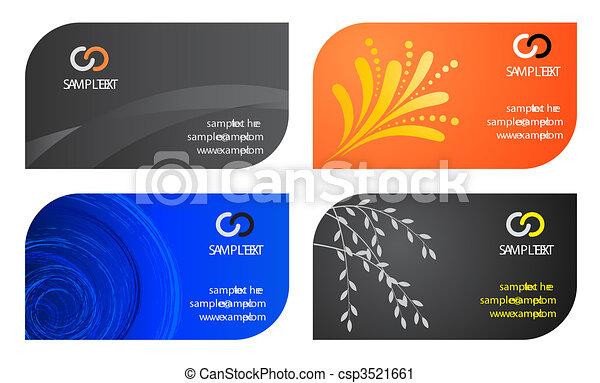 cartões, template., negócio - csp3521661