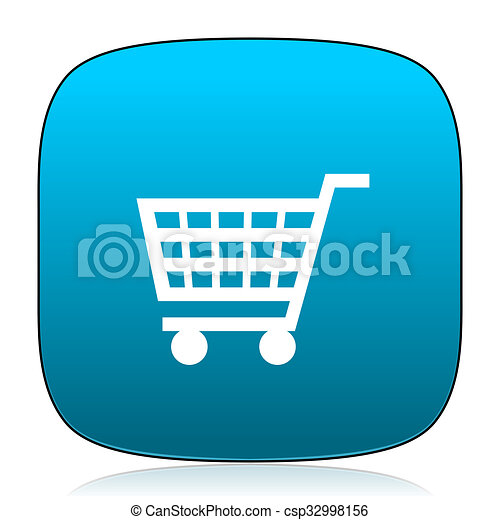 cart blue icon - csp32998156