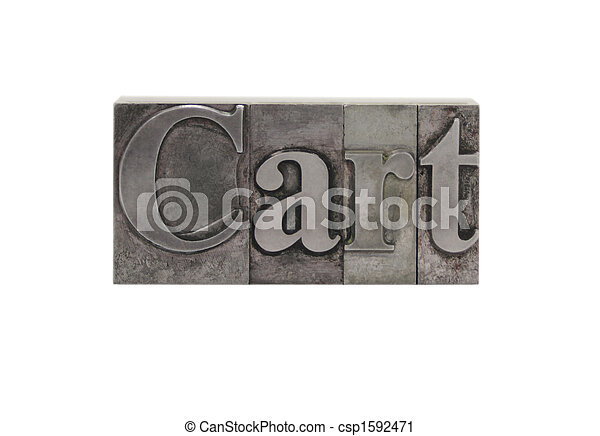 cart in old metal type - csp1592471