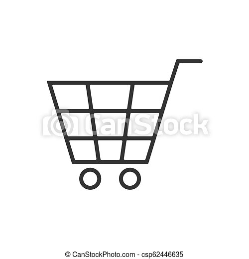 Cart line icon on a white background - csp62446635