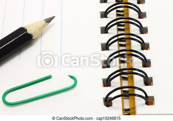 carta, aperto, matita, blocco note - csp10246815