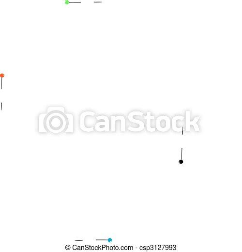 carta, collegato, clip - csp3127993