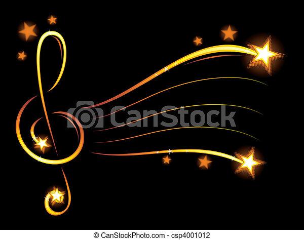 carta da parati, musica - csp4001012