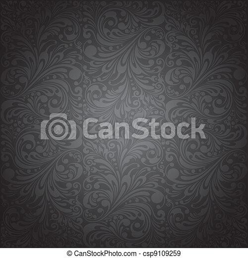carta da parati, ornamento, classico - csp9109259