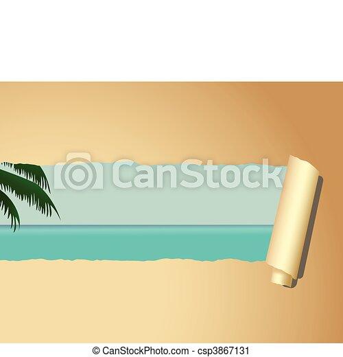Carta da parati spiaggia illustrazione for Stock carta da parati