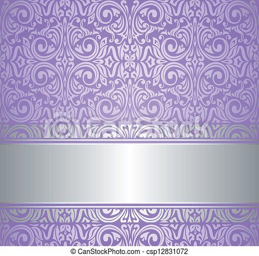 Carta da parati viola lusso argento vendemmia carta for Carta parati lusso