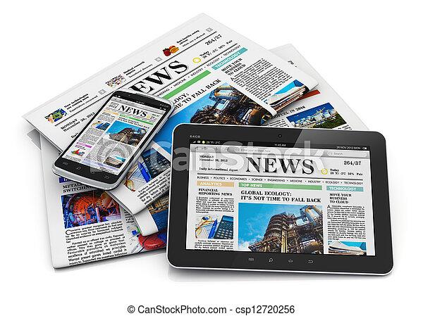carta, media, concetto, elettronico - csp12720256
