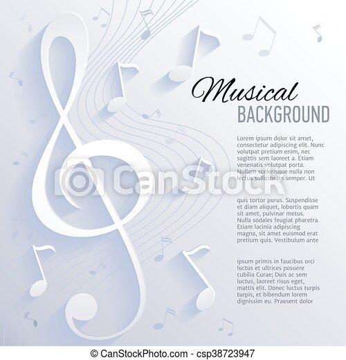 carta, musica, note., fondo - csp38723947