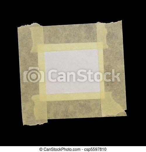 carta, nastro, mascherare, scarto - csp5597810