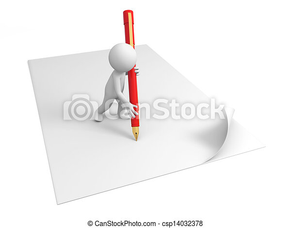 carta, scrivere - csp14032378
