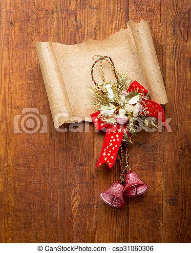 carta, vecchio, decorazioni, copyspace, natale - csp31060306
