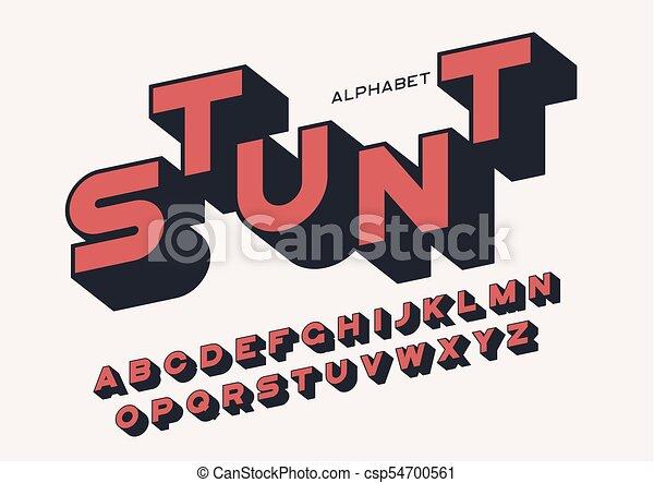 Styled sans serif letras atrevidas con larga sombra - csp54700561