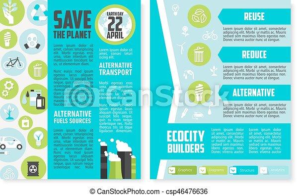 Cartaz Dia Desenho Modelo Folheto Terra Ou