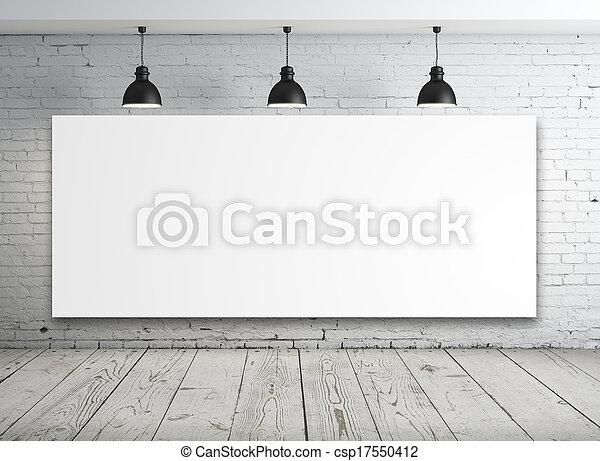 cartaz, quarto branco - csp17550412