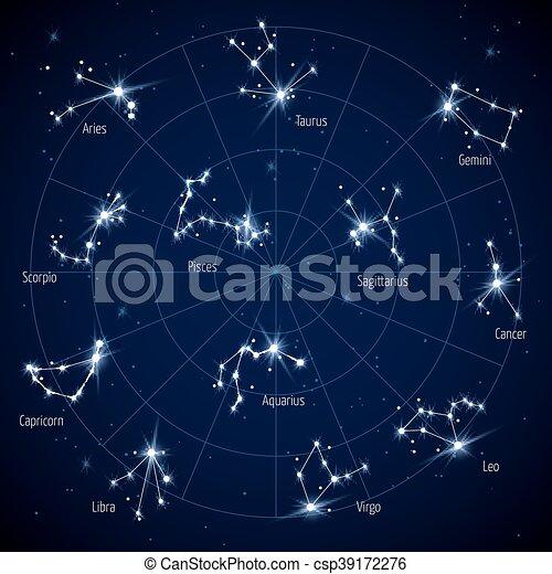 carte toile ciel constellations vecteur toiles carte ensemble toile espace ciel. Black Bedroom Furniture Sets. Home Design Ideas