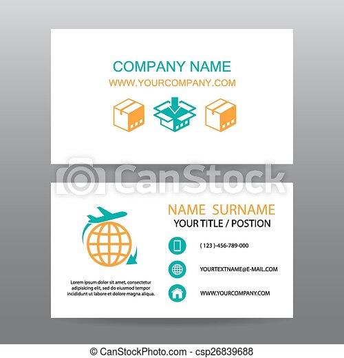 carte affaires, logistique, expédition, vecteur, fond - csp26839688