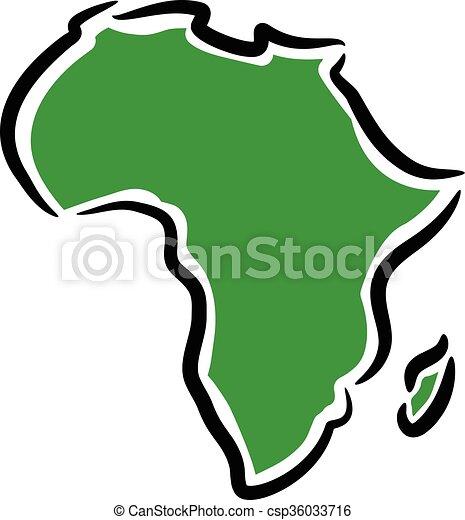Carte Afrique Vectorielle.Carte Afrique