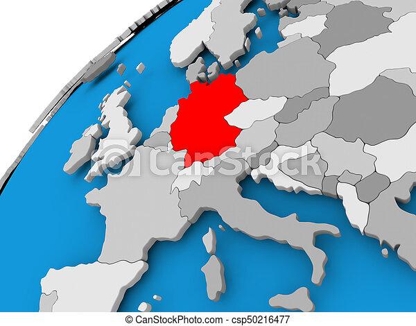 Carte Allemagne Simple.Carte Allemagne Rouges