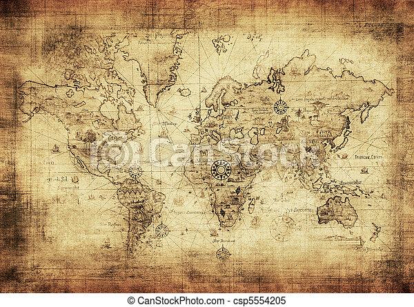 carte, ancien, mondiale - csp5554205