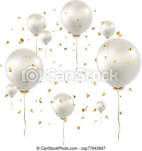 Carte Anniversaire Ballons Blanc Carte Anniversaire Vecteur Blanc Illustration Ballons Maille Gradient Canstock