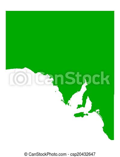 carte, australie, sud - csp20432647