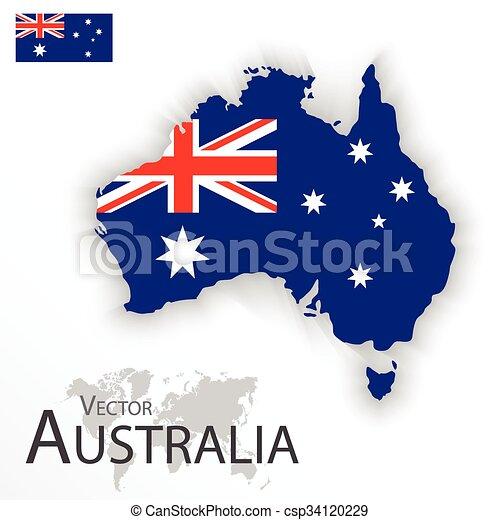 Carte Australie Drapeau.Carte Australie Transport Drapeau Concept Tourisme