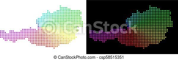 carte, autriche, spectre, pixelated - csp58515351