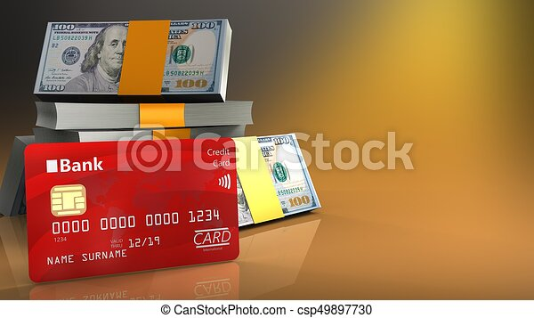 Carte Bancaire Jaune.Carte Bancaire 3d