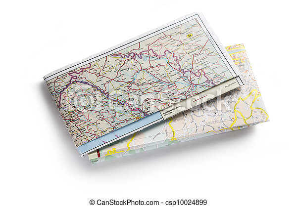 carte, blanc, route, fond - csp10024899