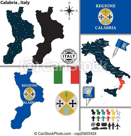 Carte Italie Calabre.Carte Calabre Italie