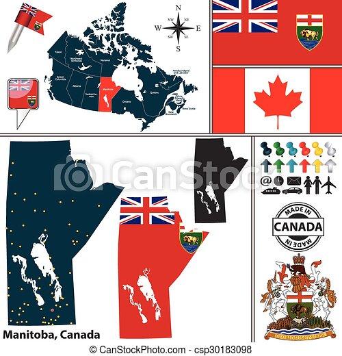Carte Canada Manitoba.Carte Canada Manitoba Carte Canadien Manteau Bras Etat