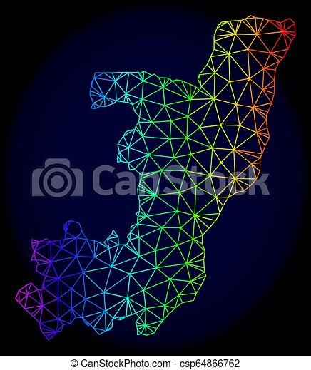 carte, carcasse, spectre, maille, polygonal, vecteur, république, congo - csp64866762
