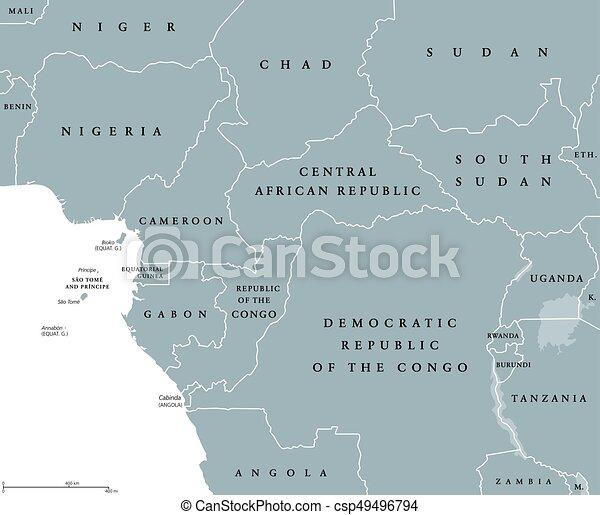 Carte Afrique Ouest Et Centrale.Carte Central Pays Ouest Politique Afrique