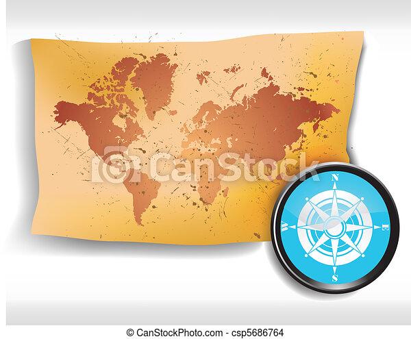 carte, compas - csp5686764