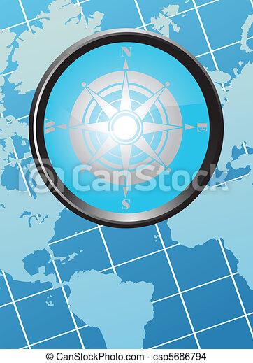 carte, compas - csp5686794