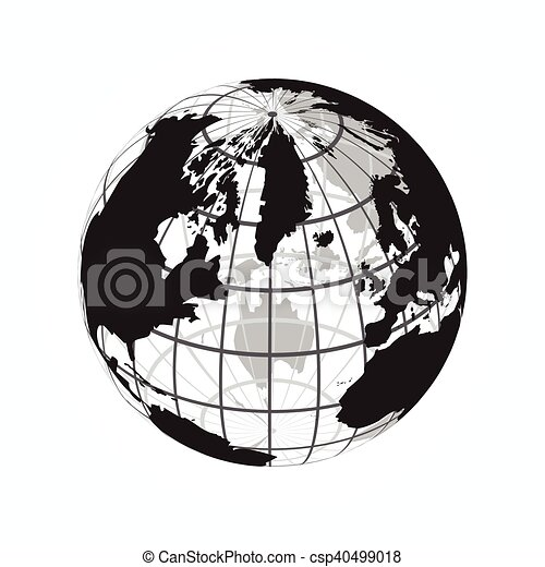carte, contour, ), (, longitude, latitude, mondiale, autour de - csp40499018