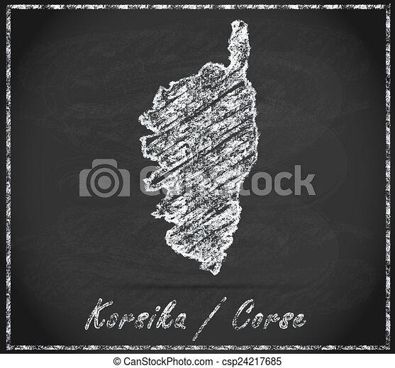 Carte Corse Noir Et Blanc.Carte Corse