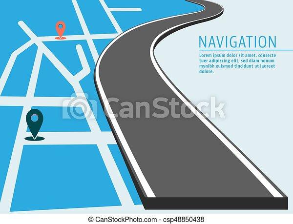 carte, emplacement, bannière - csp48850438