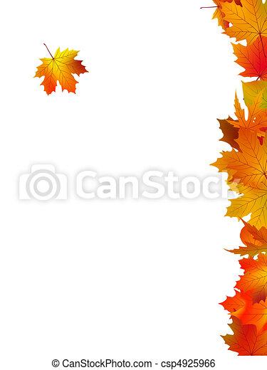 carte, feuilles, remercier, fond, vous - csp4925966