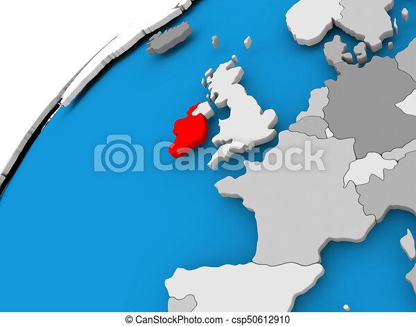Carte Irlande Simple.Carte Irlande Rouges