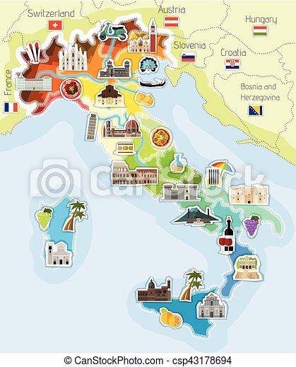 Carte France Italie Dessin.Carte Italie