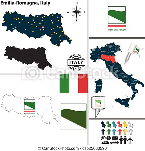Carte Italie Emilia Romagna.Carte Italie Emilia Romagna
