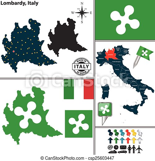 Carte Italie Lombardie.Carte Italie Lombardie