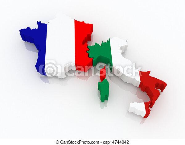 Carte France Italie Dessin.Carte Italy France